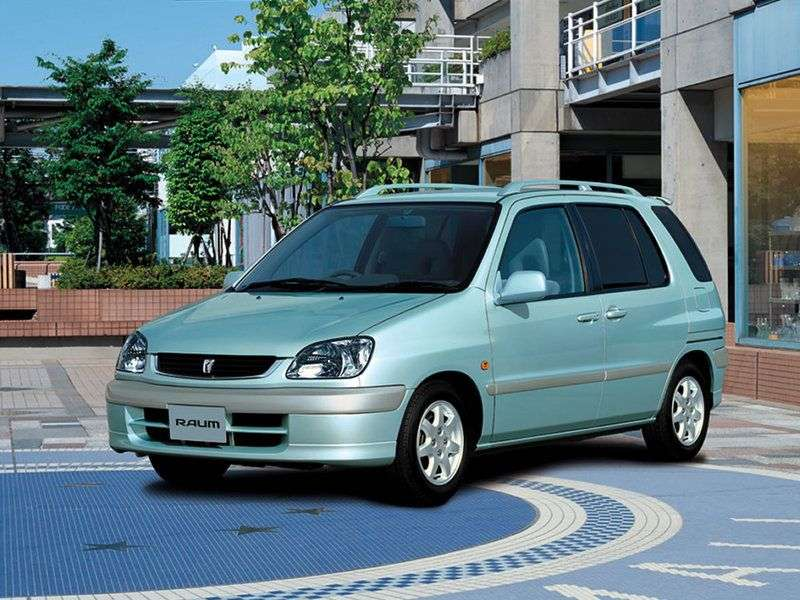 Toyota Raum 1st generation minivan 1.5 AT 4WD (1997–2003)