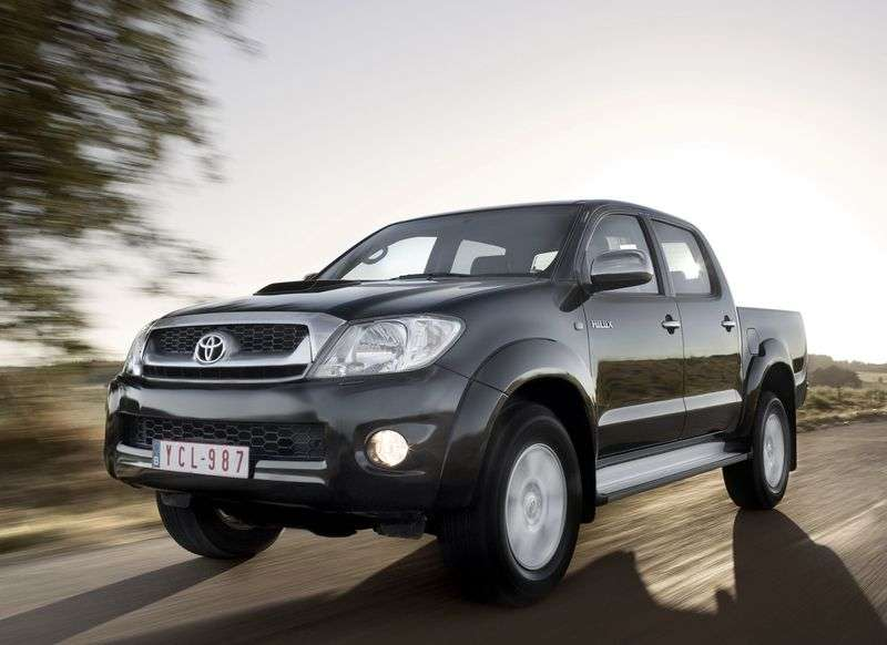 Toyota Hilux 7th generation [restyling] Double Cab pickup 2.5D MT Turbo AWD Standard (2008–2011)