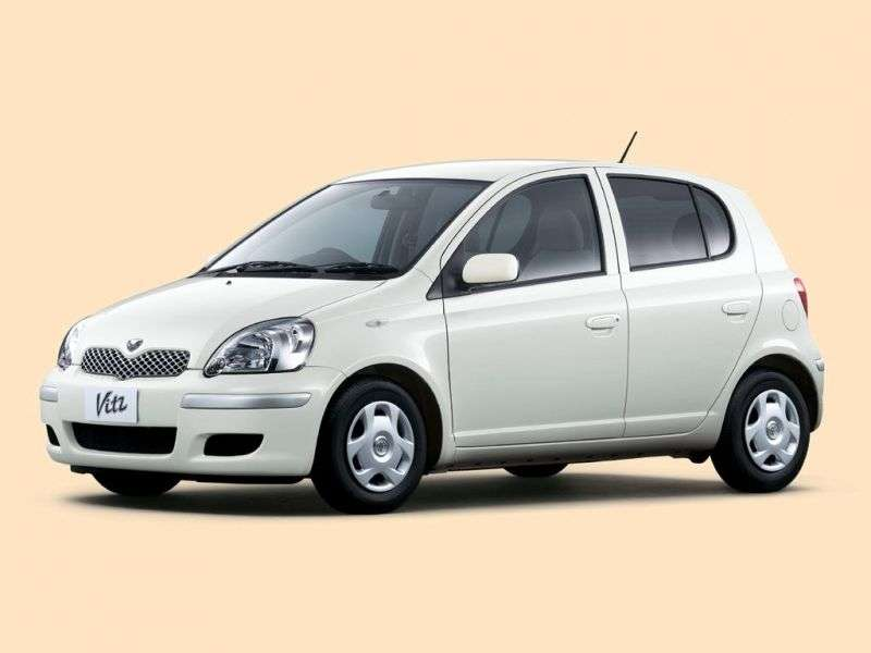 Toyota Vitz XP10 [restyling] 5 dv hatchback 1.3 AT (2002–2005)