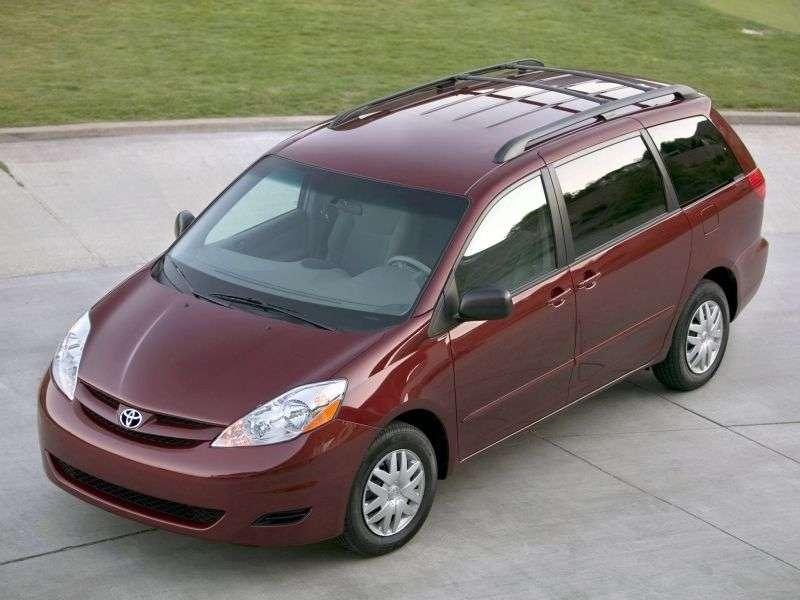 Toyota Sienna 2nd generation [restyled] minivan 3.3 AT AWD (2006–2010)