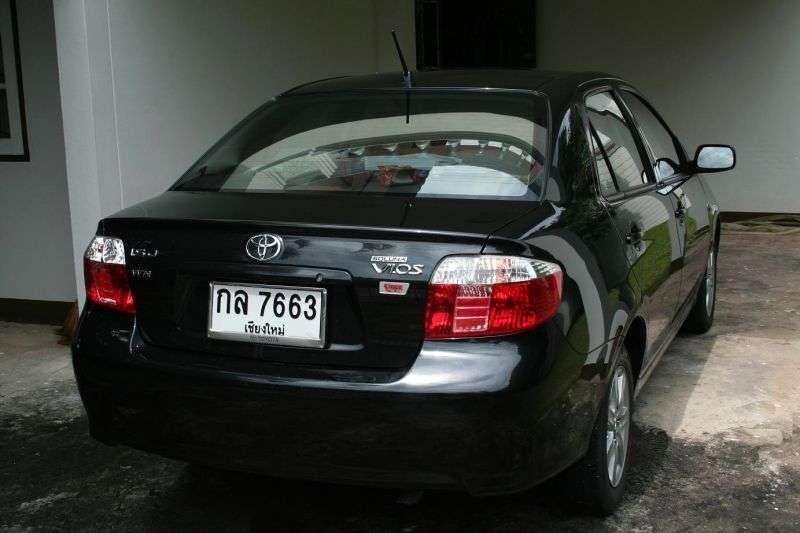 Toyota Vios 1st generation [restyled] sedan 1.3 AT (2005 – present)