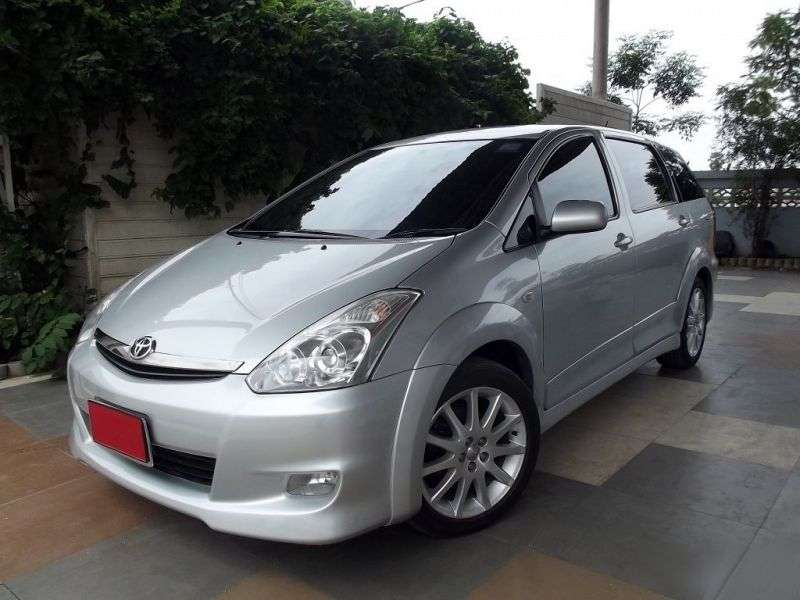 Toyota Wish 1st generation [restyled] minivan 1.8 AT (2005–2009)