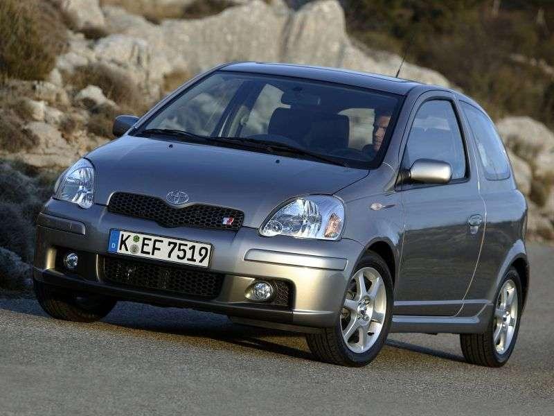 Toyota Yaris P1 [restyling] 3 bit hatchback 1.5 MT (2003–2005)