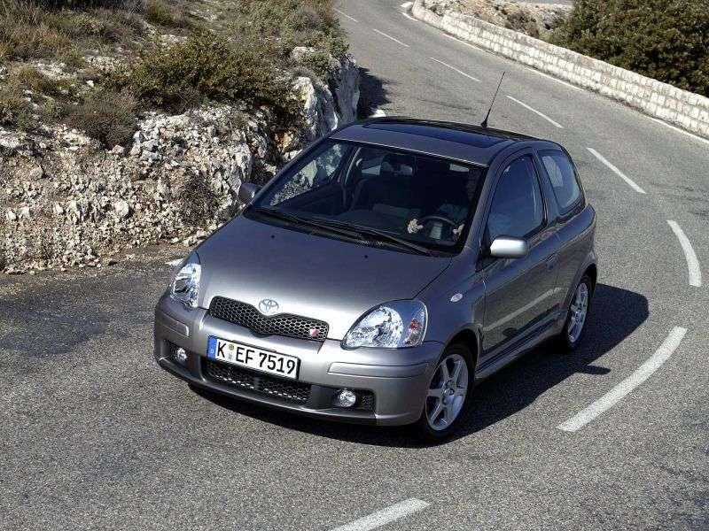 Toyota Yaris P1 [restyling] 3 bit hatchback 1.0 AT (2003–2005)