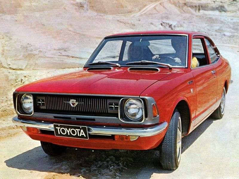 Toyota Corolla E20kupe 2 dv. 1.2 Synchromesh (1970–1971)