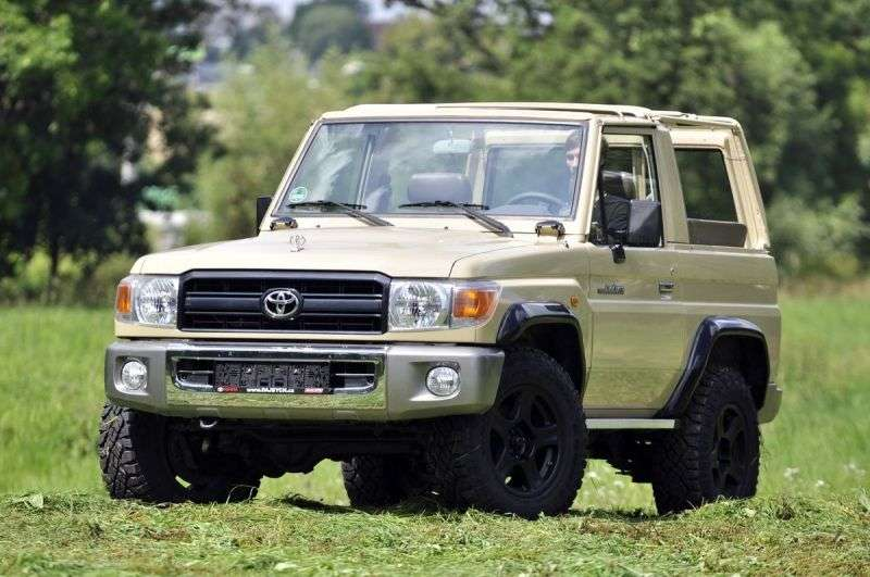 Toyota Land Cruiser J70 [3rd restyling] J71 Convertible 4.0 MT (2010 – current century)