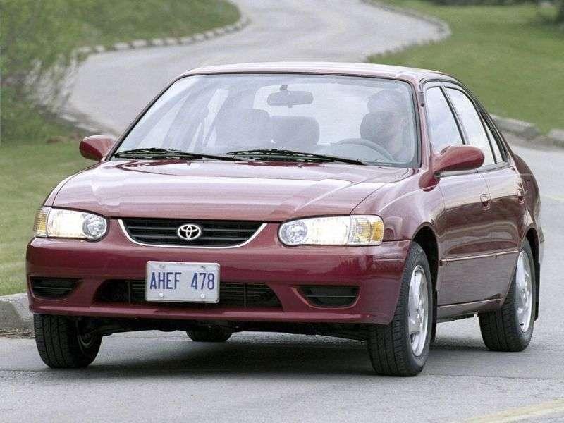Toyota Corolla E110 [restyling] US Spec. 4 door sedan 1.8 MT Overdrive (2000–2002)