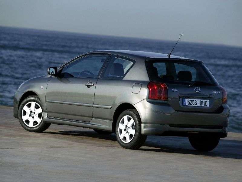 Toyota Corolla E130 [restyling] 3 dv hatchback 1.4 MT (2004–2007)