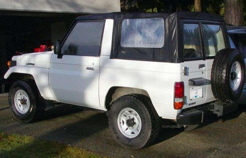 Toyota Land Cruiser J70BJ70 2 door convertible. 3.4 D MT (1985–1990)