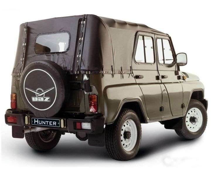 UAZ Hunter 1st generation convertible 2.7 MT 4WD Classic (2012) (2003 – current century)