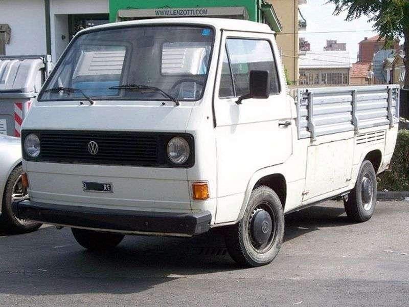Volkswagen Transporter T3Single Cab pickup 2.0 MT (1979–1982)