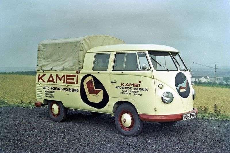 Volkswagen Transporter T1Double Cab pick up 4 bit. 1.5 MT (1958–1967)