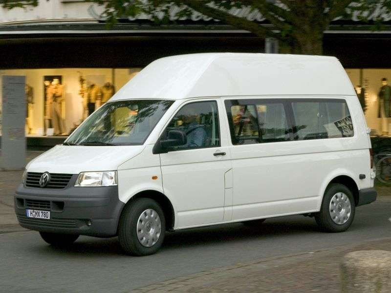 Volkswagen Transporter T5Minibus 2.5 TDI MT 4motion L1H2 SWB (2006–2009)
