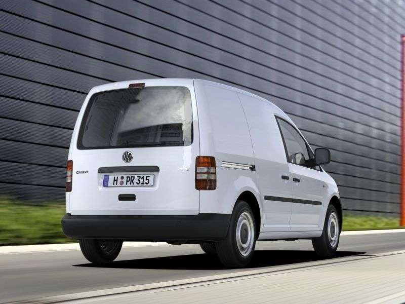 Volkswagen Caddy 3rd generation [restyling] Kasten van 4 dv. 2.0 MT EcoFuel L2 Basic (2011 – current century.)