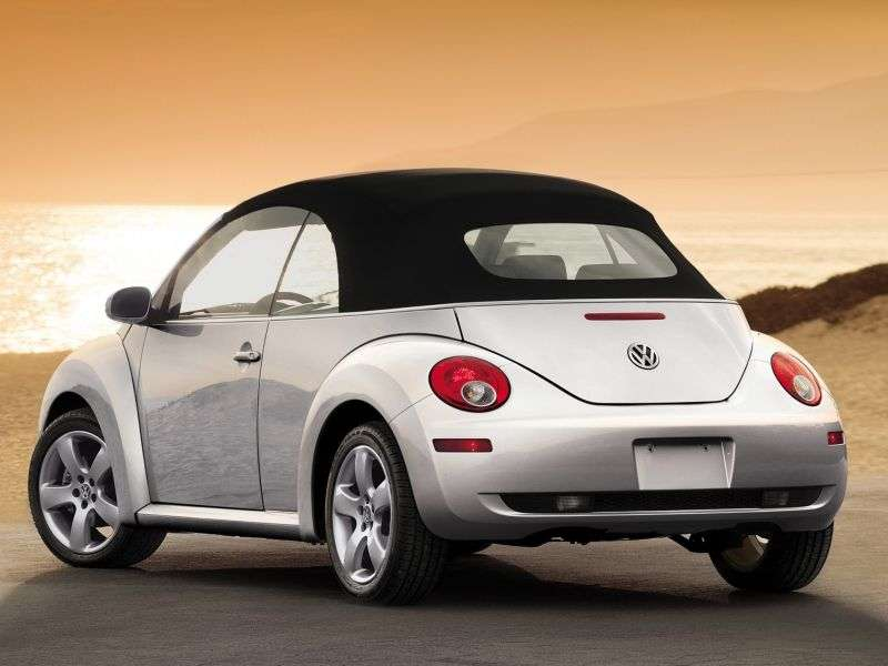 Volkswagen New Beetle 1st generation [restyling] 1.6 AT cabrio (2007–2010)