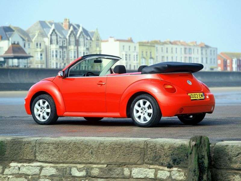 Volkswagen New Beetle 1st generation convertible 2 dv. 1.8 5V Turbo MT (2003–2005)