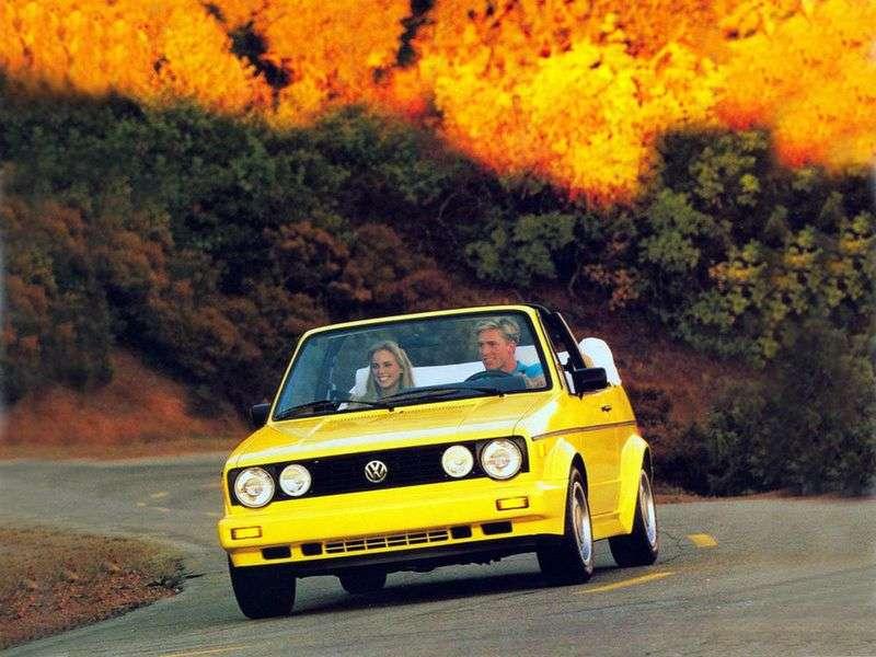Volkswagen Golf 1st generation 1.8 MT convertible (1983–1993)