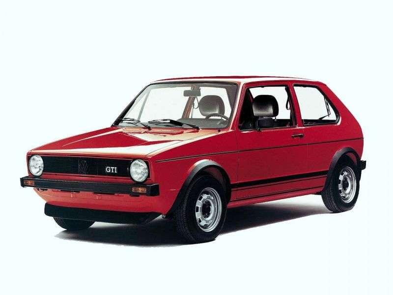 Volkswagen Golf 1 generacji GTI hatchback 3 drzwiowy 1,6 mln ton (1976 1983)
