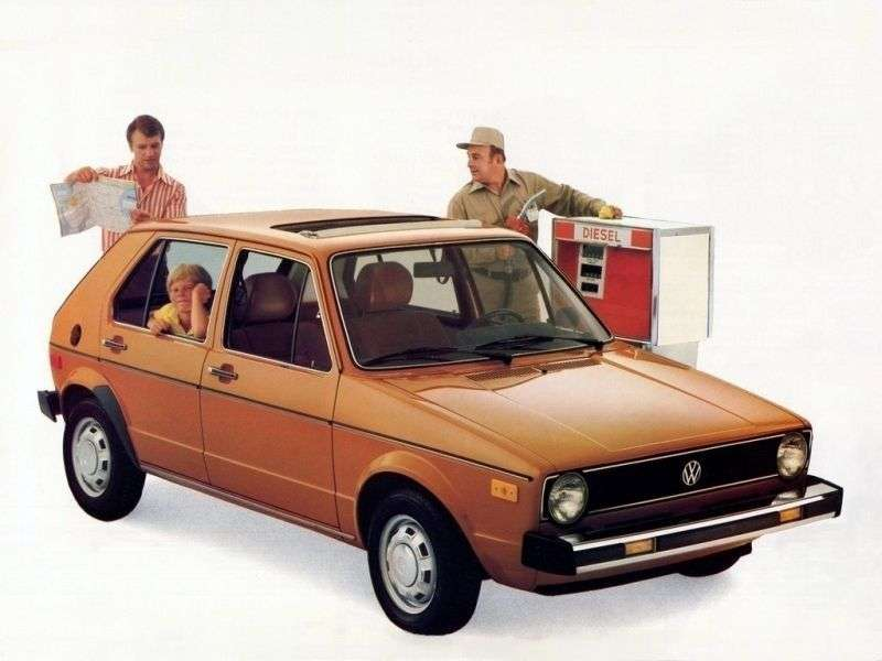 Volkswagen Rabbit 1st generation hatchback 5 dv. 1.6 MT (1977–1980)