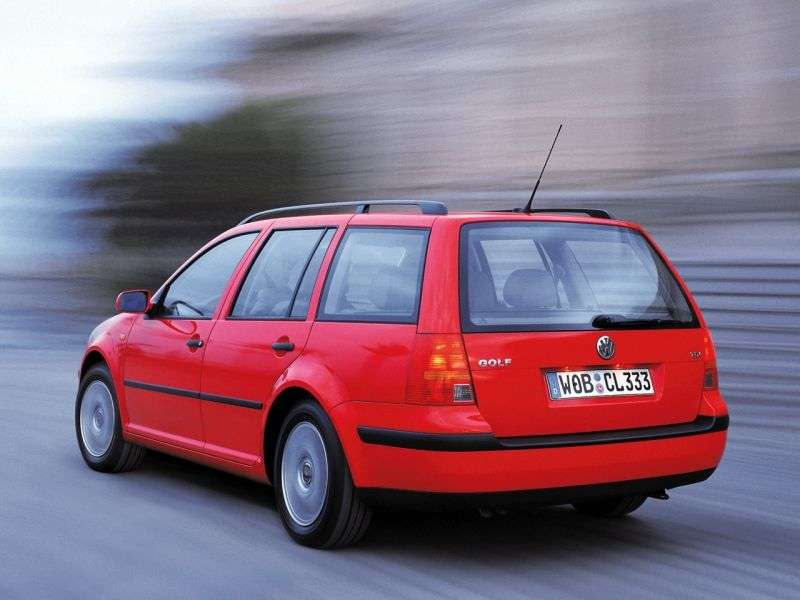 Volkswagen Golf 4th generation wagon 1.9 TDI 4Motion MT (1999–2006)