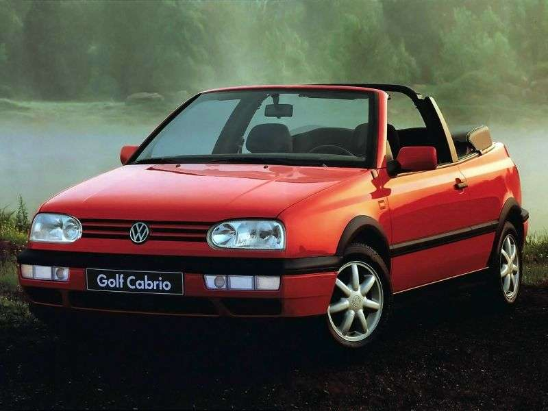 Volkswagen Golf 3rd generation 1.6 MT convertible (1995–1998)