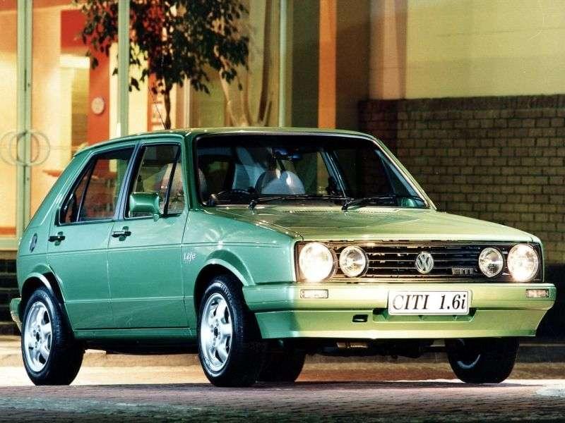Volkswagen Citi Golf 1 generacji [restyling] hatchback 1.4 MT (2006 2009)