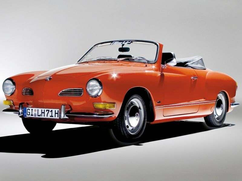 Volkswagen Karmann Ghia Type 14 [restyling] 1.5 AMT convertible (1966–1970)