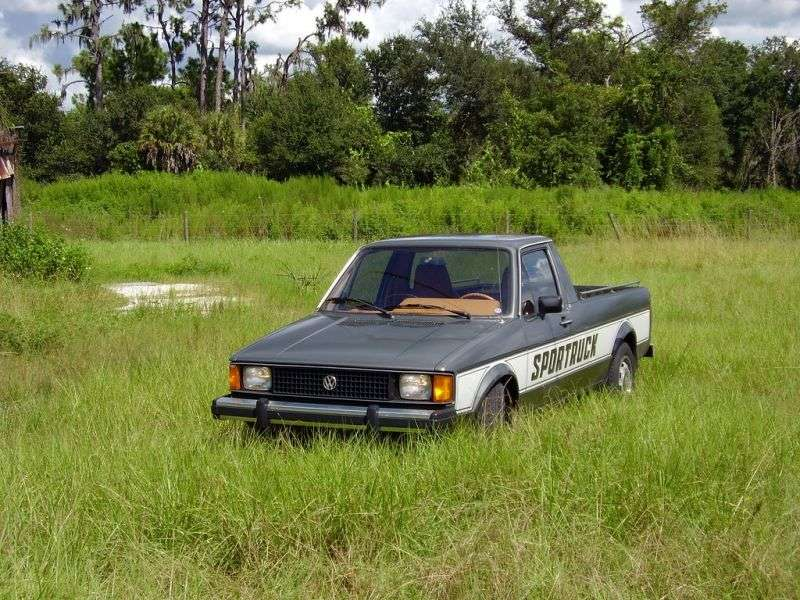 Volkswagen Rabbit 1st generation [restyling] pickup 1.6 MT (1981–1985)