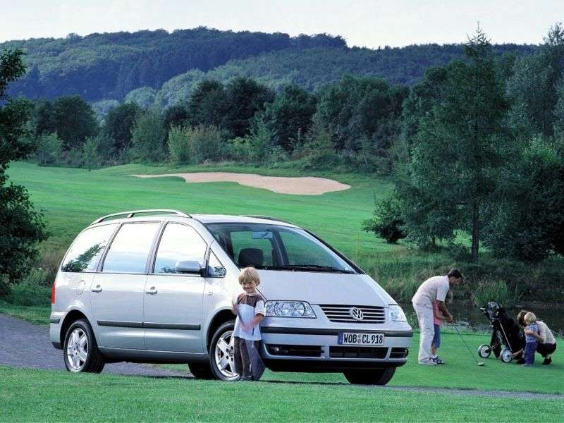 Volkswagen Sharan 1st generation [restyled] minivan 2.0 AT (2000–2003)