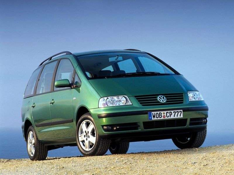 Volkswagen Sharan 1st generation [restyled] minivan 2.8 AT (2000–2003)