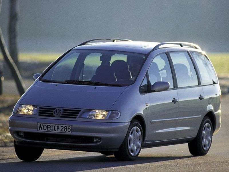 Volkswagen Sharan 1st generation 5 door minivan 1.8 AT (1997–2000)