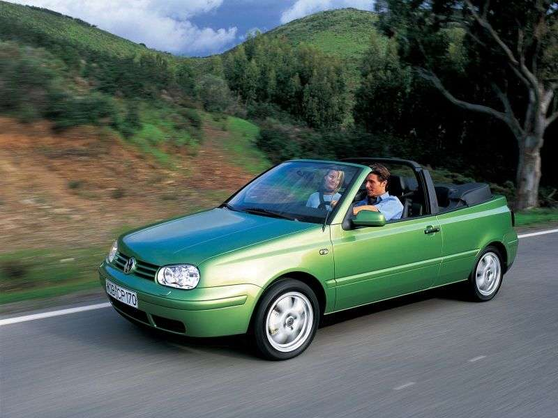 Volkswagen Golf 4th generation MT 1.6 convertible (1998–2004)