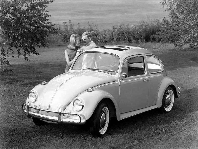 Volkswagen Beetle 1200/1300/1500 [restyling] sedan 1.5 AMT (1966–1968)