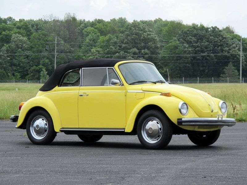 Volkswagen Beetle 1200 [4th restyling] 1.3 MT convertible (1973–1975)
