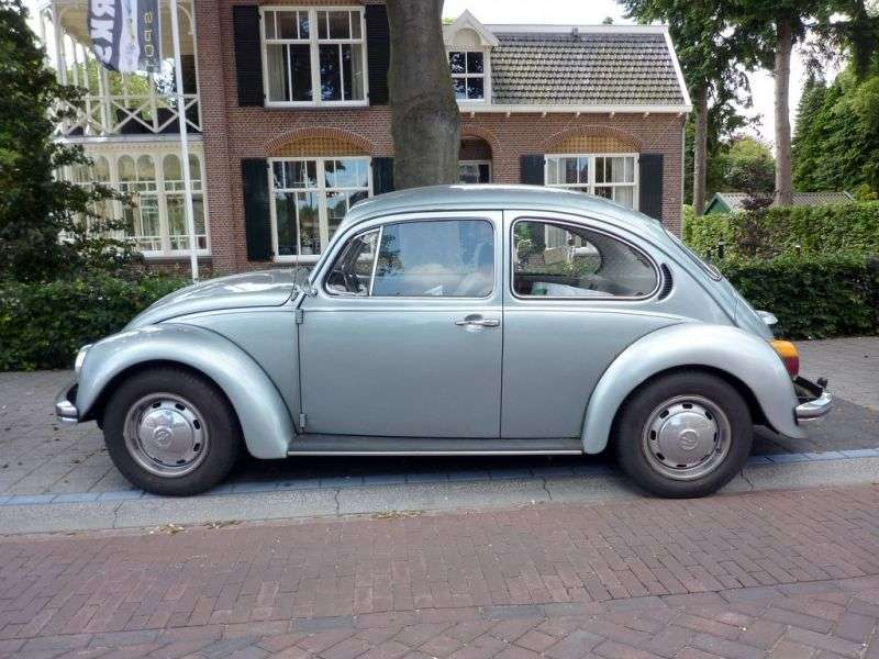 Volkswagen Beetle 1200 [4th restyling] 2 door sedan 1.3 AMT (1973 1975)