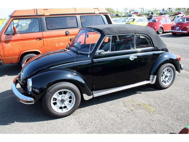 Volkswagen Beetle 1302/1303 [3rd restyling] 1.6 AMT convertible (1970 1972)