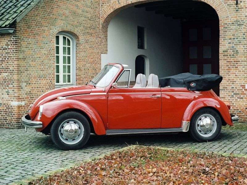Volkswagen Beetle 1302/1303 [3rd restyling] 1.6 MT L Convertible (1972–1975)