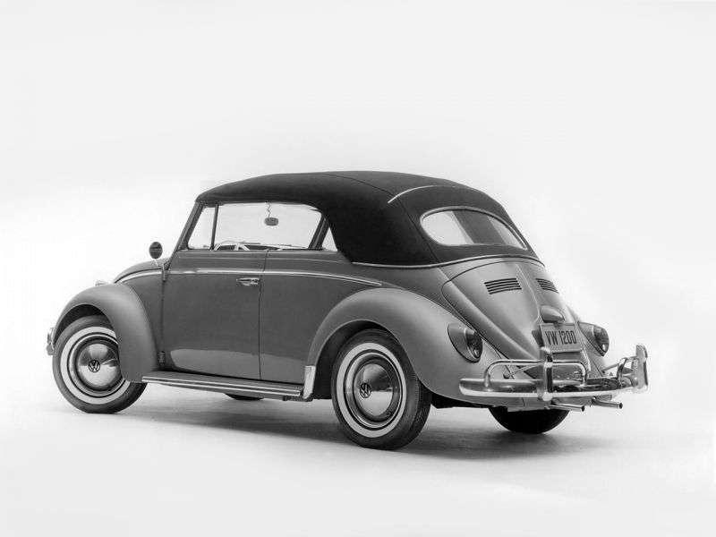 Volkswagen Beetle 1200/1300/1500 [restyling] 1.3 AMT convertible (1965–1968)