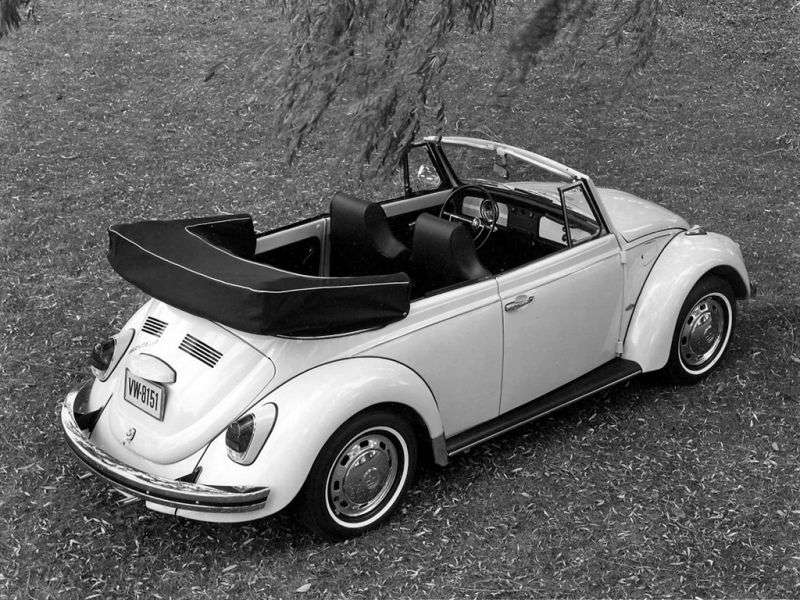 Volkswagen Beetle 1200/1300/1500 [2nd restyling] 1.5 MT convertible (1968–1973)