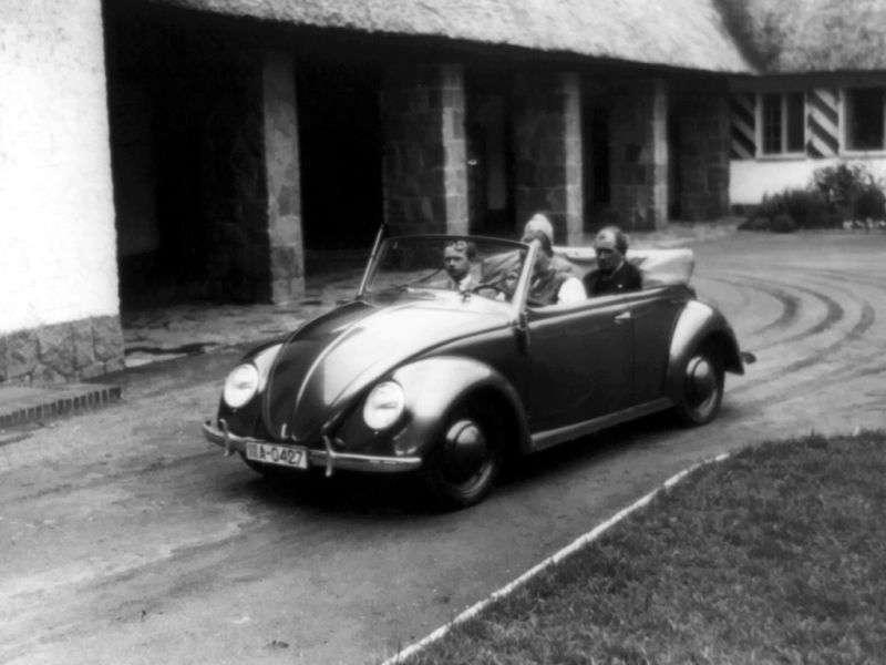 Volkswagen Beetle 1st generation 1.1 MT convertible (1946–1953)