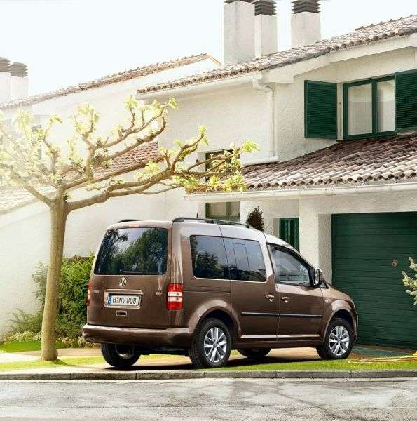 Volkswagen Caddy 3rd generation [restyling] Kombi 4 door minivan 1.6 TDI DSG L1 Basic (5 seats) (2011 – current century)