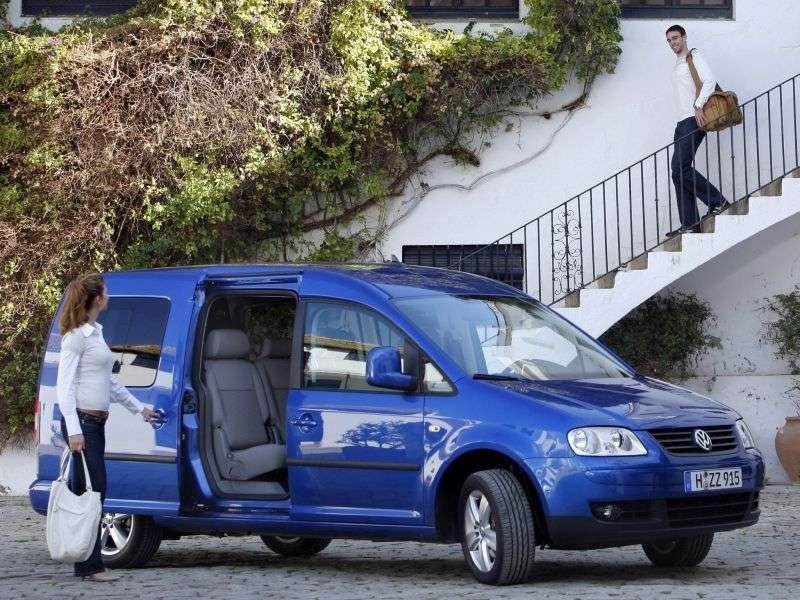 Volkswagen Caddy 3 generacji Maxi minivan 4 drzwiowy 1,6 mln ton (2007 2010)