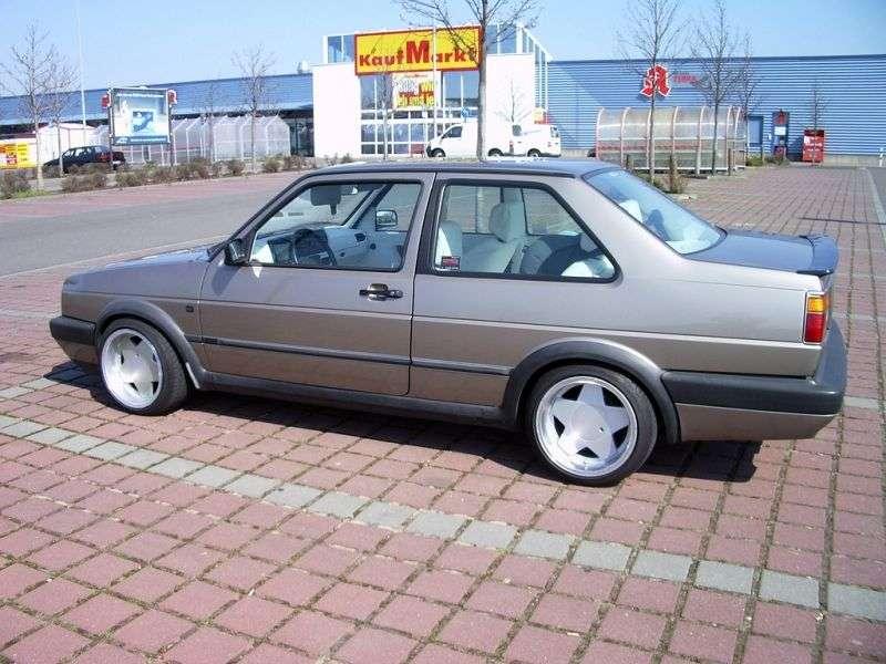 Volkswagen Jetta 2 generation [restyling] 2 d sedan 1.3 MT (1987–1992)