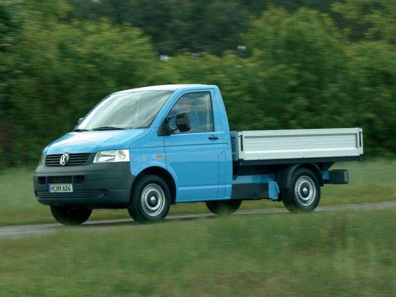Volkswagen Transporter T5Single Cab pickup 2 bit. 1.9 TDI MT (2003–2009)
