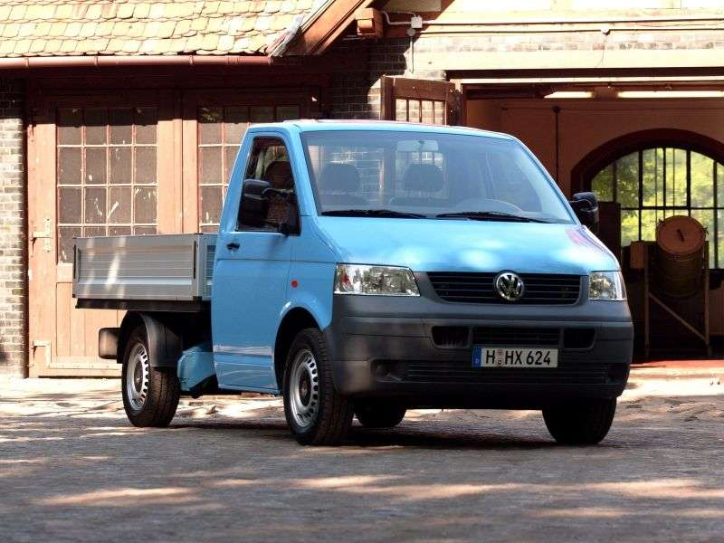 Volkswagen Transporter T5Single Cab pickup 2 bit. 2.0 LWB L2H1 MT (2003–2009)